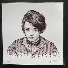 Juego de Tronos-Arya por Joshua Budich limitada de impresión de pantalla de mujer fuerte.