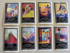 8 New Zealand Government Tourist Office Cinderella Poster Stamps