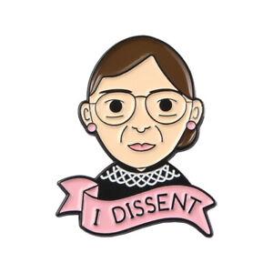 Feminist New Ruth Bard Revolutionary Brooch Unisex Pins Lapel Pins Enamel Badge