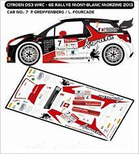 DECALS 1/43 CITROËN DS3 WRC  #7 - GREIFFENBERG - RALLYE MONT BLANC 2013 - D43240