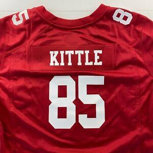 New Nike Women's George Kittle Red Jersey #85 2XL San Francisco 49ers On Field