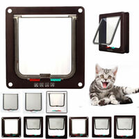 Dog Cat Mate 4 Way Locking Large Cat Small Dog Flap White Catflap Pet Door LN