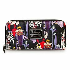 Disney Female Villains Evil Queen Maleficent Cruella Ursula Wallet by Loungefly