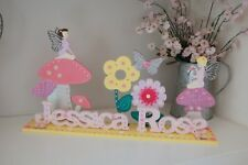 Girls Bedroom Name Sign, Fairy Room Decoration, Pink Name, Personalised