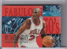 1995-96 FLEER ULTRA #5 MICHAEL JORDAN FABULOUS 50'S CHICAGO BULLS HOF 7036