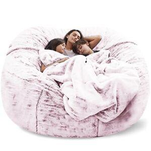 Microsuede Foam Giant Bean Bag Lazy Sofa Cover Memory Living Room No Filling