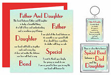 Father & Daughter Verse Gift Set - Card, Keyring & Magnet, Dad Daughter Birthday