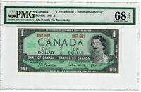 Canada $1 Dollar Banknote 1967 BC-45a PMG Superb GEM UNC 68 EPQ