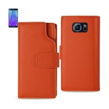 For Samsung Galaxy Note 5 Case Leather w/RFID Protection & Card Pocket Tangerine