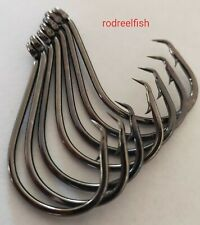 5/0 Quality Chemically sharpened octopus offset circle hooks 100 pack