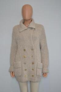 MARTIN MARGIELA Knitted Mohair Beige Khaki Ribbed Bolero White Label Marque D\u00e9pos\u00e9