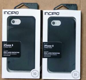 Lot of 2 New Incipio DUALPRO iPhone 8/7/6/6s SE (2020) Black Drop Tested 2 Layer