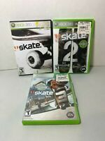 Skate 1 2 & 3 Xbox 360 Games Lot Bundle Skating Clean Tested Discs in Case