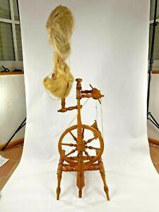 Sehr altes Spinnrad Holz - DEKO - Historisch / Vintage - 135 cm hoch - sehr gut!