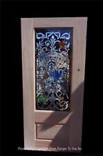 CUSTOM HAND MADE BULL DOG STAINED GLASS ENTRY ESTATE DOOR - CD2