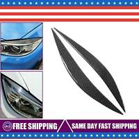 FOR 2014-18 BMW F80 M3 F82 F83 M4 CARBON FIBER HEADLIGHT EYE LID COVER EYEBROWS