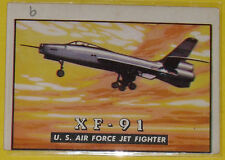 1952 Wings XF-91 U. S. Air Force Jet Fighter Trading Card # 9 See!