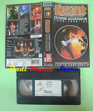 VHS KREATOR Extreme aggression tour 1989 90 Live in east berlin no cd mc (VM3)