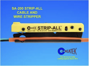Seatek SA200SK Strip-All Cable & Wire Stripper with Wire Stripper, Utility Knife