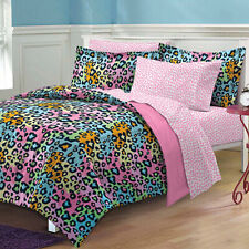 My Room Neon Leopard Complete Bed in a Bag Bedding Set