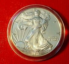 2016 1 oz Silver American Eagle (Brilliant Uncirculated) in Capsule