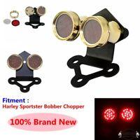 12V LED Twin Dual Brake Taillight Tail Lamp For Harley Cafe Racer Bobber Chopper