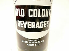 vintage ACL Soda POP Bottle:  full grape OLD COLONY of AIKEN, S.C. -- 10 oz ACL
