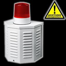 PENTATECH Alarm Sirenen Attrappe AS 09 Alarmsirene Außensirene Dummy Alarmanlage