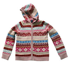GAP Sweater Cardigan Hoodie Size 12 XL EEUC Pink White Blue Red Holiday Warm