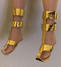 Vintage Barbie Doll Golden Sandals Shoes Mattel