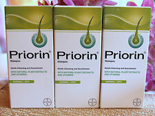 3χPRIORIN BAYER  Anti Hair loss 3xShampoo for mormal-dry hair,  3x200ml=600ml