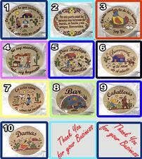 Mexican Ceramic Plaque Sign Bienvenidos Frases Especiales Caballeros Damas Bar