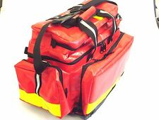 Fully kitted red wipe down paramedic trauma Dura Bag