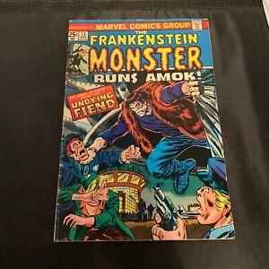 Marvel Comics Group The Frankenstein Monster Runs Amok #13 Nov 1974 Collector Cr