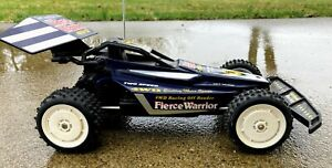 VINTAGE RADIO SHACK 4WD FIERCE WARRIOR RC DUNE BUGGY - WITH REMOTE - TESTED