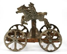 Vintage Horse Pull Metal Toy With Bell
