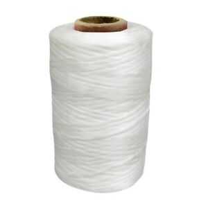 1 Single Spool White Sinew Waxed Beading Craft Poly Thread Artificial Wax Sinue
