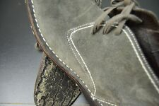 JOHN VARVATOS NATURAL SLATE GREY SUEDE LEATHER CASUAL DESIGNER BOOTS SIZE: 9