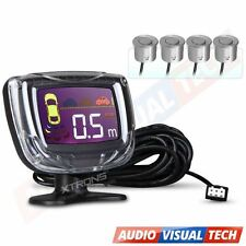 XTRONS Parking Reversing Rear Car 4 Sensors Kit Radar LED Display Buzzer Alarm