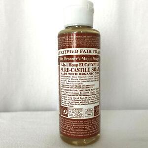 Dr. Bronner's Eucalyptus Pure Castile Soap 4 oz 118 ml NEW Sealed