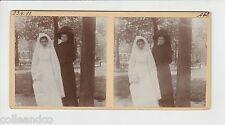 █ Vue Stéréoscopique / Stéréo : 1911 Jeune Mariée en robe █