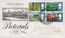GB 1966 LANDSCAPES PICTORIAL FIRST DAY COVER FDC  - WITH LONDON CDS