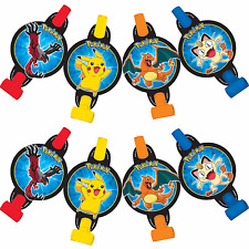 Pokemon Pikachu & Friends Blowout Birthday Decorations Party Favor Supplies ~8ct