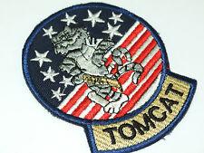 US NAVY F-14 TOMCAT  Embroidered Iron-On Patch   - 2 BADGES