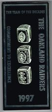 1997 Oakland Raiders NFL Football Media GUIDE