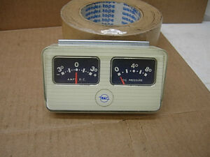 NOS 1960s RAC STEWART WARNER 30 AMP & 80 LB OIL PRESSURE GAUGE DASH MOUNT GAUGES