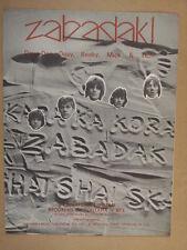 song sheet ZABADAK ! Dave Dee, Dozy, Beaky, Mick & Tich 1967