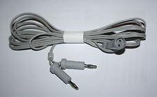 BIPOLAR AMERICAN reutilizable de cable de 3 Mtr Largo, 4MM Pin Universal Cap, Quirúrgico CE.