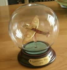 More details for boxed  model of a  supermarine va spitfire  aeroplane  1939 iin a glass bubble
