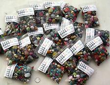 1 x Large Pack De aleatoriamente mixto Acrílico la fabricación de joyas Beads - 100g
